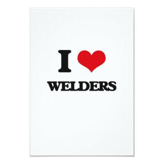 "I love Welders 3.5"" X 5"" Invitation Card"