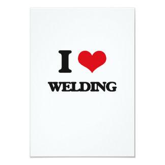 "I love Welding 3.5"" X 5"" Invitation Card"