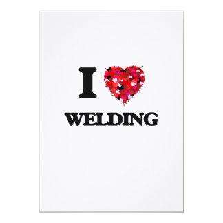 "I Love Welding 5"" X 7"" Invitation Card"