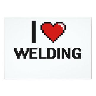 I Love Welding Digital Design 5x7 Paper Invitation Card
