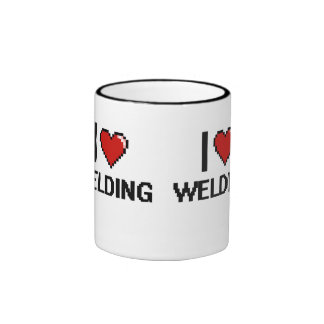 I Love Welding Digital Design Ringer Mug