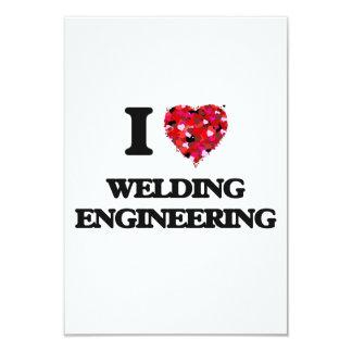 "I Love Welding Engineering 3.5"" X 5"" Invitation Card"