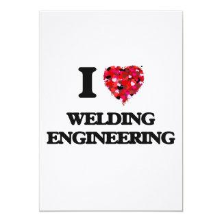 "I Love Welding Engineering 5"" X 7"" Invitation Card"