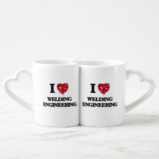 I Love Welding Engineering Couple Mugs