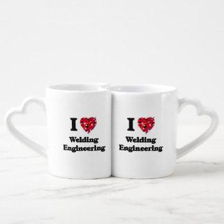 I Love Welding Engineering Couples Mug