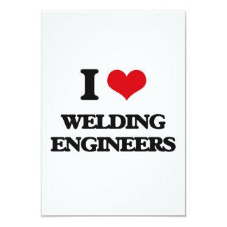 "I love Welding Engineers 3.5"" X 5"" Invitation Card"