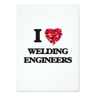 "I love Welding Engineers 5"" X 7"" Invitation Card"