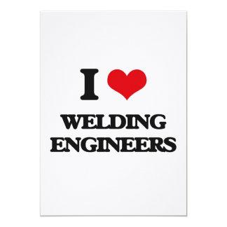 I love Welding Engineers 5x7 Paper Invitation Card