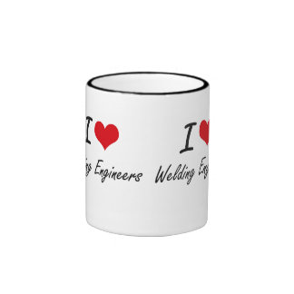 I love Welding Engineers Ringer Mug