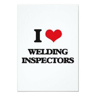 "I love Welding Inspectors 3.5"" X 5"" Invitation Card"