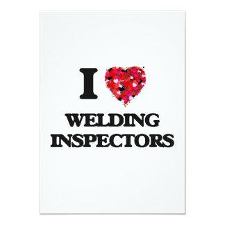 "I love Welding Inspectors 5"" X 7"" Invitation Card"