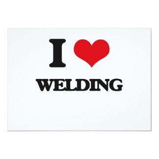 I Love Welding 5x7 Paper Invitation Card