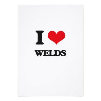 "I love Welds 5"" X 7"" Invitation Card"
