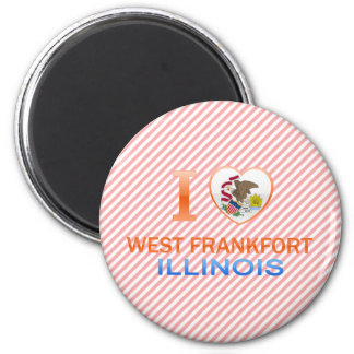 I Love West Frankfort, IL Magnet