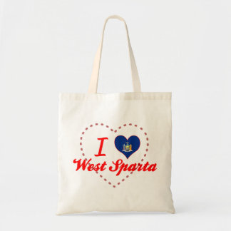 I Love West Sparta New York Tote Bags