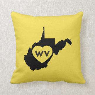 I Love West Virginia State Pillows