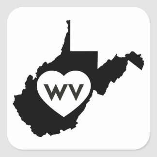 I Love West Virginia State Stickers