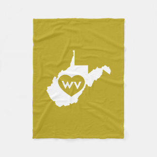 I Love West Virginia State (White) Blankets