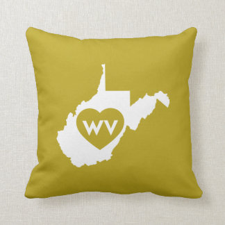 I Love West Virginia State (White) Pillows