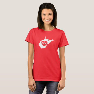 I Love West Virginia State (White) Women's T-Shirt