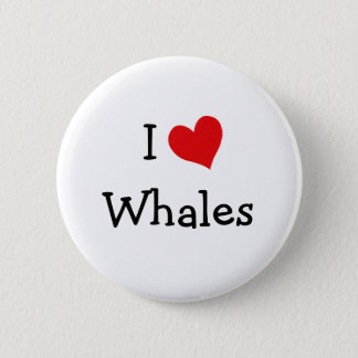I Love Whales 2 Inch Round Button
