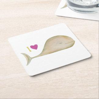 I love Wheels Square Paper Coaster