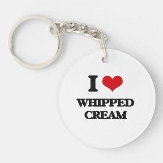 I love Whipped Cream Single-Sided Round Acrylic Keychain