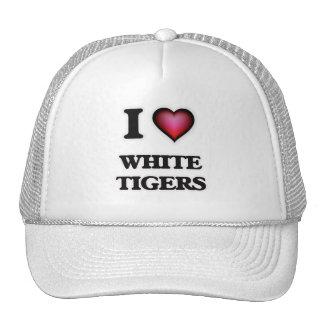I Love White Tigers Trucker Hat