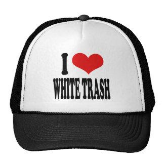 I Love White Trash Trucker Hat