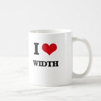 I Love Width Coffee Mug