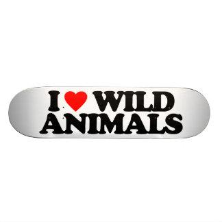 I LOVE WILD ANIMALS SKATE DECKS
