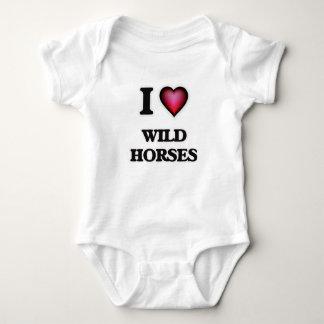 I Love Wild Horses Baby Bodysuit