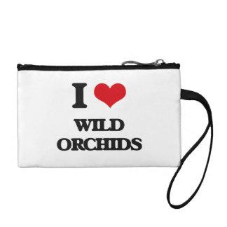I love Wild Orchids Change Purse