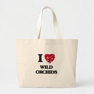 I love Wild Orchids Jumbo Tote Bag