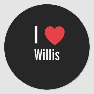 I love Willis Classic Round Sticker