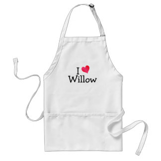 I Love Willow Standard Apron