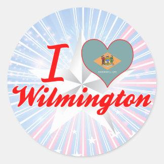 I Love Wilmington, Delaware Round Sticker