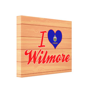 I Love Wilmore, Kansas Stretched Canvas Prints
