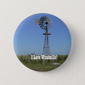 I Love Windmills! 2 Inch Round Button