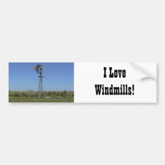I Love Windmills! Bumper Sticker