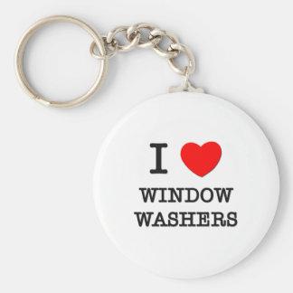 I Love Window Washers Keychain