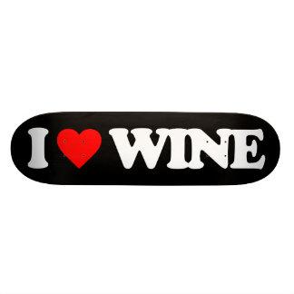 I LOVE WINE SKATEBOARD DECKS