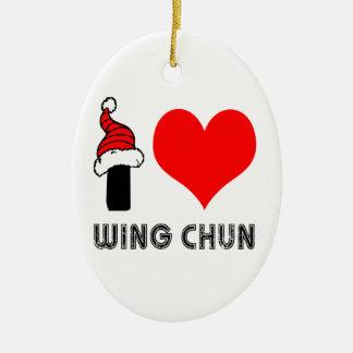 I Love Wing Chun Design Ceramic Ornament