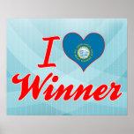 I Love Winner, South Dakota Posters