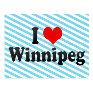 I Love Winnipeg, Canada Postcard