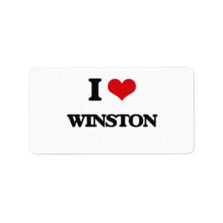 I Love Winston Address Label