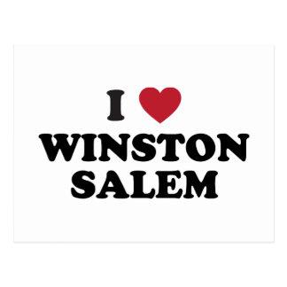 I Love Winston Salem North Carolina Postcard