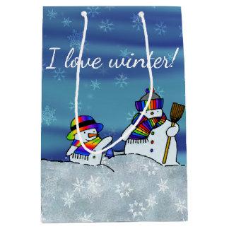 I love winter! medium gift bag