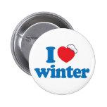 I Love Winter Pinback Button