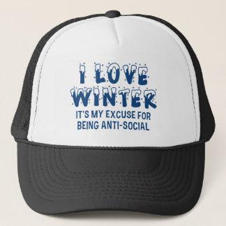 I Love Winter Trucker Hat